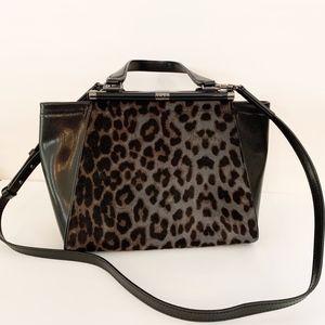 Diane Von Furstenberg real fur purse handbag